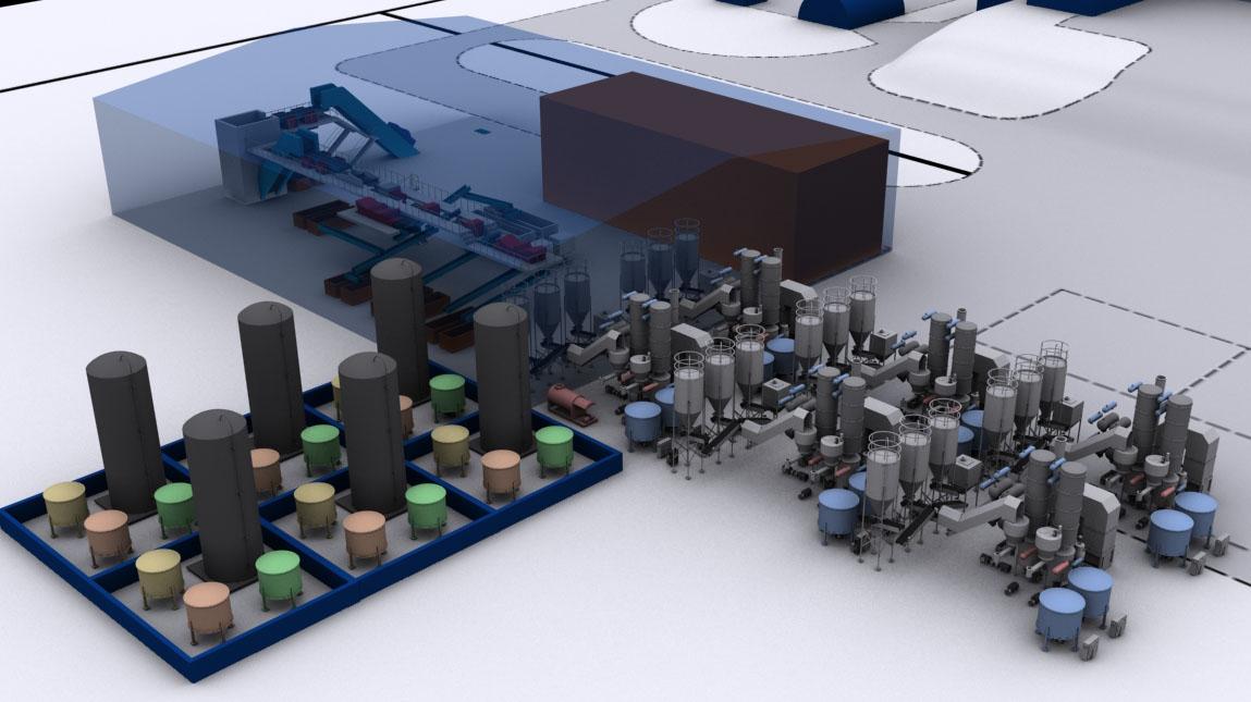 Cielo 3d plant render